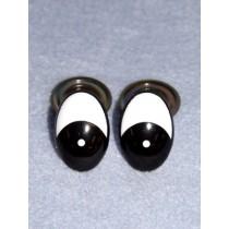 Eye - Oval 10mm Black_White Pkg_6