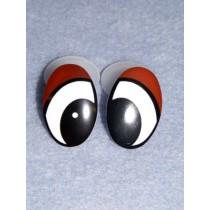 Eye - Oval 30mm Black_Brown Pkg_4