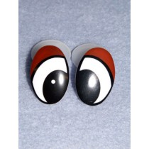 Eye - Oval 30mm Black_Brown Pkg_50
