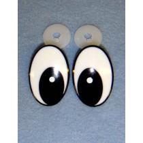 Eyes - Comical - 42mm Black_White 25 Pair