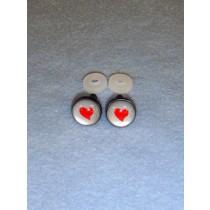 Eyes - Silver w_Red Heart - 12mm Pkg_6