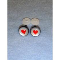 Eyes - Silver w_Red Heart - 14mm Pkg_6