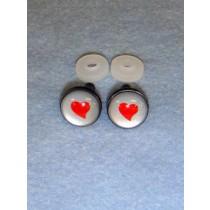 Eyes - Silver w_Red Heart - 16mm Pkg_6