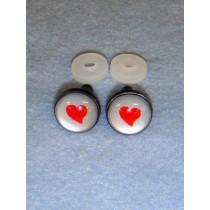 Eyes - Silver w_Red Heart - 18mm Pkg_6