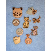 Feline Fancy Assorted Buttons