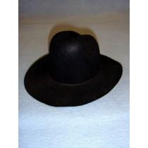 """Felt Cowboy Hat - Black - 7 3_4"""""""