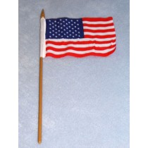 """Flag - 4"""" x 6"""" on Pole - Pkg_4"""