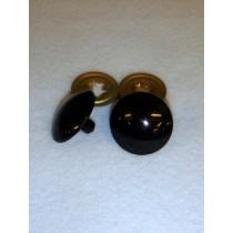 Flat Acrylic Solid Black Eyes - 27mm Pkg_50