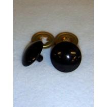 Flat Acrylic Solid Black Eyes - 30mm Pkg_50
