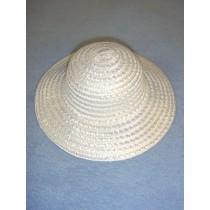 """Flower Girl Hat - 8"""" White"""