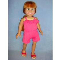 "|Fuchsia Romper for 18"" Doll"