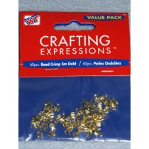 Gold Small Crimp Beads - Pkg_60