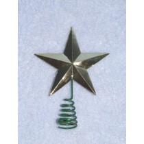 """Gold Star Tree Topper 1 1_2"""" pkg_2"""