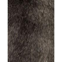 Grey Fox Fur Fabric - 1 Yd