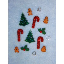 Happy Holidays Assorted Buttons