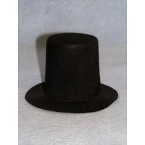 """Hat -Stove Pipe - 6"""" Black"""