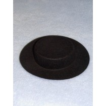"Hat - Amish - 4"" Black"