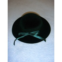 "Hat - Classic Flocked - 7"" Dark Green"