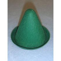 "Hat - Clown - 3"" Green"