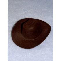 """Hat - Cowboy - 4"""" Brown"""