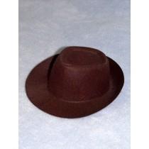"Hat - Fedora - 3 1_2"" Brown"