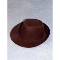 "Hat - Fedora - 5 1_2"" Brown"