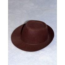 "Hat - Fedora - 8"" Brown"