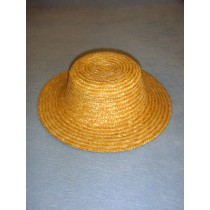 "Hat - Flat Top Straw - 9"" Natural"