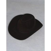 "Hat - Flocked Cowboy - 6"" Black"