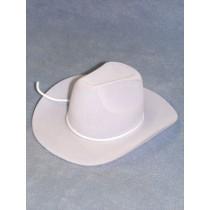 "Hat - Flocked Cowboy - 7"" White"
