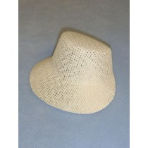 "Hat - Straw Bonnet - 4 3_4"" White"