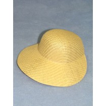 "Hat - Straw Bonnet - 5 1_2"" Natural"