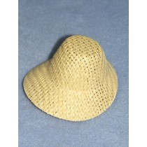 "Hat - Straw Poke Bonnet - 3"" Natural"
