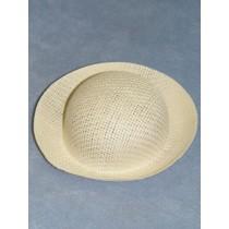 """Hat - Straw Roller - 5 3_4"""" White"""