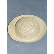 """Hat - Straw Roller - 6 1_2"""" White"""