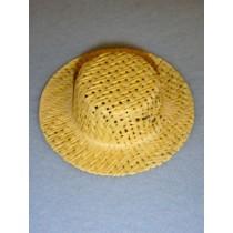 """Hat - Straw Skimmer - 2 1_2"""" Natural"""