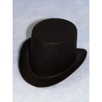 "Hat - Top - 3"" Black"