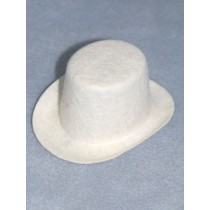 "Hat - Top - 5"" White"
