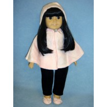 "Hooded Poncho for 18"" Doll"