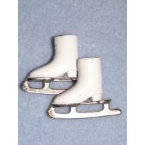 """Ice Skates - 1 1_8"""" White - 1 pair"""