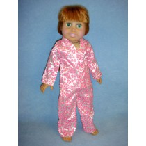 "|Leopard Print Pajamas for 18"" Doll"