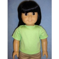 """Lime Green 'Design Your Own' T-Shirt for 18"""" Dolls"""