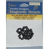 Magnetic Hematite - 5mm Spacer - Pkg_35