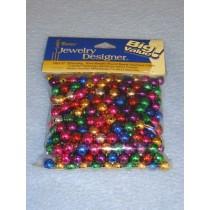 Metallic Bead 8mm Round 320 pcs