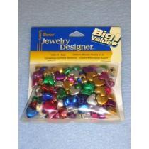 Metallic Heart Beads 6x9mm 100 pcs