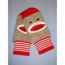 Monkey Sock Mittens (Adult)