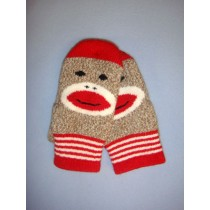 Monkey Sock Mittens (Youth Large)