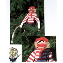 Monkey Socks Pirate Costume Pattern