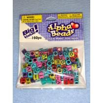 Multi  Alpha Beads 6mm Cube 160 pcs