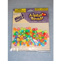 Multi Neon Trans Alpha Beads 7mm Round 160 pcs
